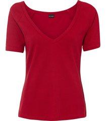 maglia a costine con cut-out (rosso) - bodyflirt boutique