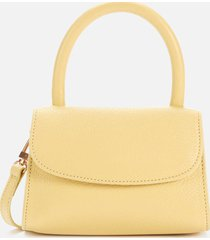 by far women's mini grained shoulder bag - vanilla