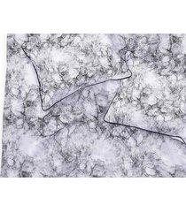 pościel dwustronna marmur z czarną lamówką