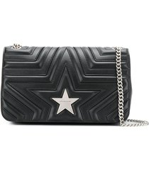 stella mccartney star stitched shoulder bag - black