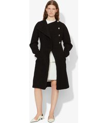 proenza schouler bonded boucle tweed coat black 8