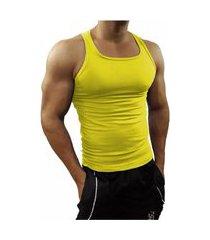 camiseta regata masculina tank01 amarelo