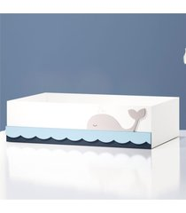 cesta mdf fundo do mar grã£o de gente azul - azul - menino - dafiti