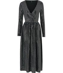 maxiklänning onlrebecca l/s glitter maxi dress