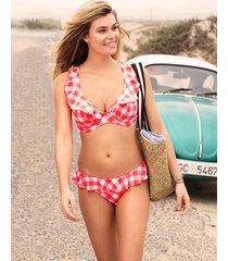 totally check non padded underwire high apex bikini top