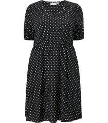 klänning carvaga s/s v neck knee dress