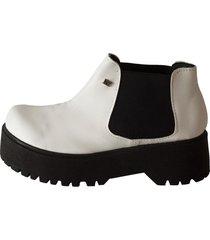 botineta  blanca rosevelt shoes elena