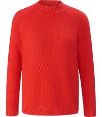 trui van 100% katoen met ronde hals van day.like rood