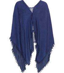 poncho estivo (blu) - bpc bonprix collection