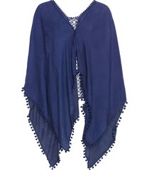poncho estivo (blu) - bpc bonprix collection
