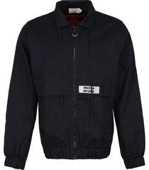 maison kitsuné zippered cotton jacket