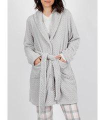 pyjama's / nachthemden admas laten we niets doen vandaag kamerjas grijs
