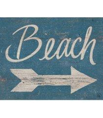 "creative gallery beach sign this way 20"" x 16"" canvas wall art print"