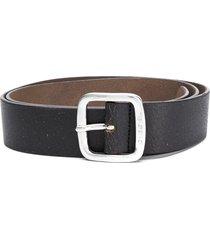 diesel printed buckled belt - brown