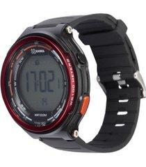 relógio digital x games xmppd576 - masculino - preto/vermelho