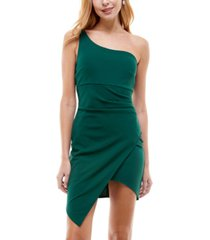 emerald sundae juniors' one-shoulder dress