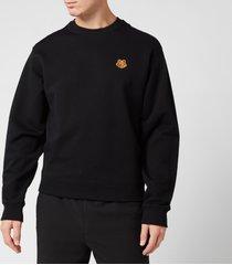 kenzo men's tiger crest sweatshirt - black - l
