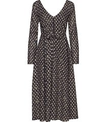 maca, 635 stars poly jurk knielengte multi/patroon stine goya