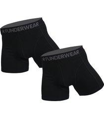 funderwear 2 pak heren boxer zwart 76001-xs