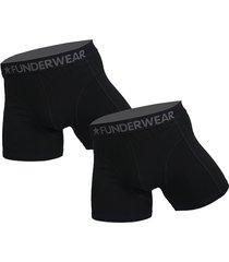 funderwear 2 pak heren boxer zwart 76001-l