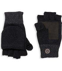 faux fur-lined flip-top mittens