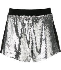 chiara ferragni sequin shorts - silver