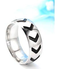 anillo de acero inoxidable de moda para hombre