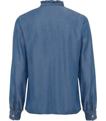 blouse met ruches, tencel™ lyocell