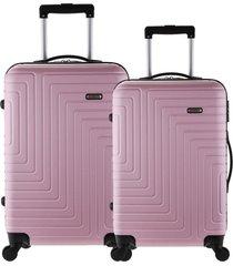 conjunto mala tonin s rãgidas sevilha (p + m) rosa - rosa - dafiti
