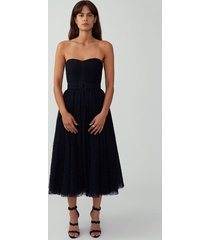 black belted strapless gown