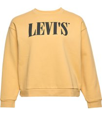 pl graphic madison crew pl 90s sweat-shirt tröja gul levi's plus