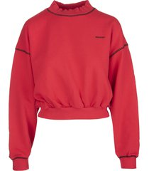 red valentino red sweatshirt with redvalentino print
