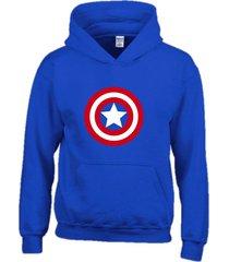 buzo estampado capitán américa con capota saco  hoodies super héroes