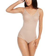miraclesuit women's extra firm tummy-control sheer trim bodysuit 2783