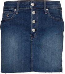 mid rise mini skirt kort kjol blå calvin klein jeans