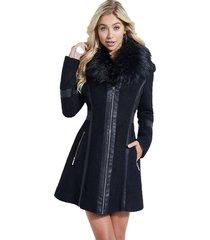 abrigo ls catrina coat negro guess