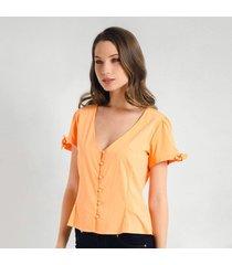 blusa para mujer en bengalina naranja