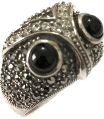 anel prata mil coruja de prata c/ zircônia