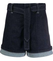 nautical denim shorts