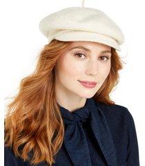 nine west wool knit newsboy hat