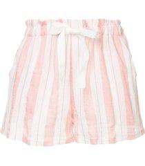 lemlem vertical stripes shorts - pink