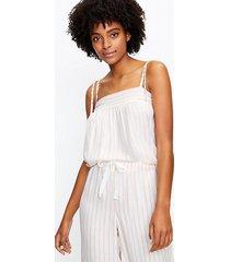 loft petite striped bow strap pajama cami