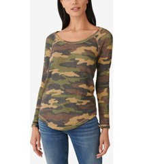lucky brand camo thermal t-shirt