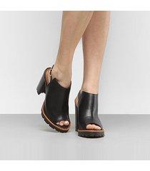 ankle boot couro carrano tratorada - feminino