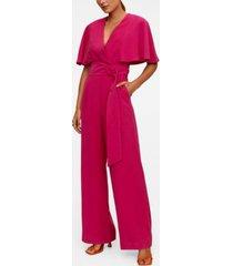 mango women's belt long jumpsuit