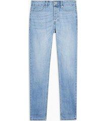 mens blue considered light wash stretch skinny jeans