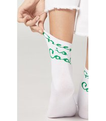 calzedonia women's eco-sustainable renewable fibre patterned ankle socks woman green size tu
