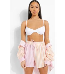 mix & match gekreukelde bikini top met beugel, white