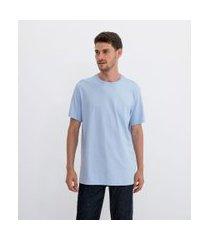 camiseta comfort em algodão peruano lisa   marfinno   azul   m