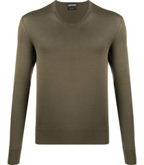 tom ford scoop-neck sweater - green